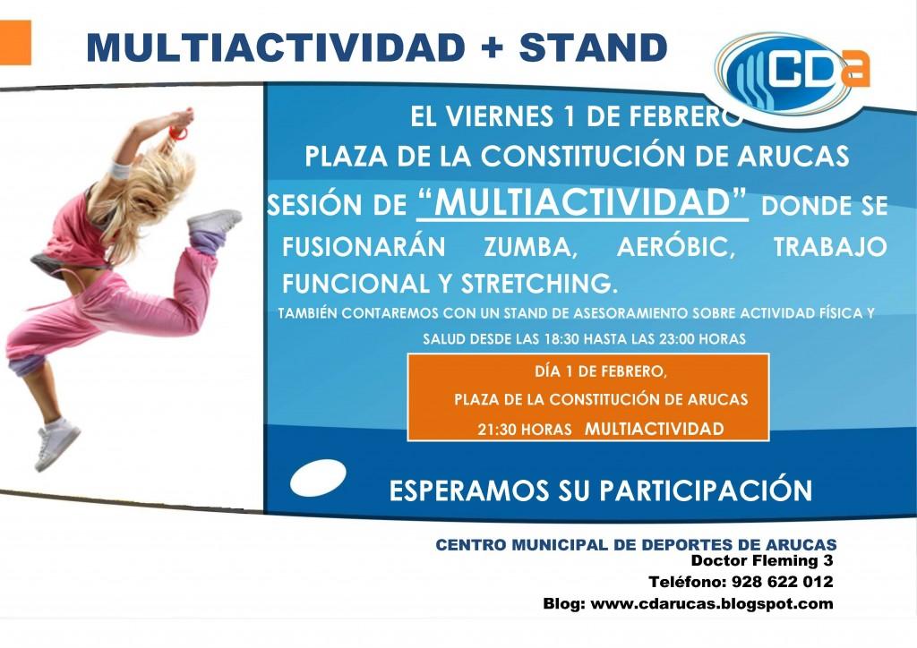 CARTEL Multiactividad  + Stand del cda  Feb 2013