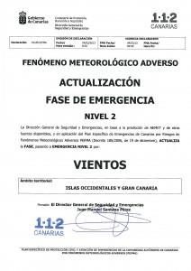 ACTUALIZACIÓN F  EMERGENCIA VIENTOS ISLAS