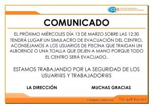 COMUNICADO SIMULACRO