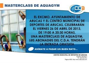 CARTEL Masterclass de Aquagym cda Abril 2013