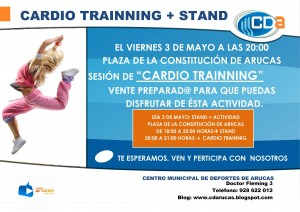 CARTEL cardio trainning + Stand del cda. 3 de Mayo 2013