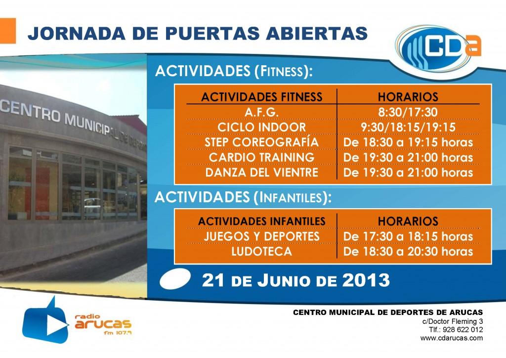 CARTEL Jornada de Puertas Abiertas I cda Junio 2013