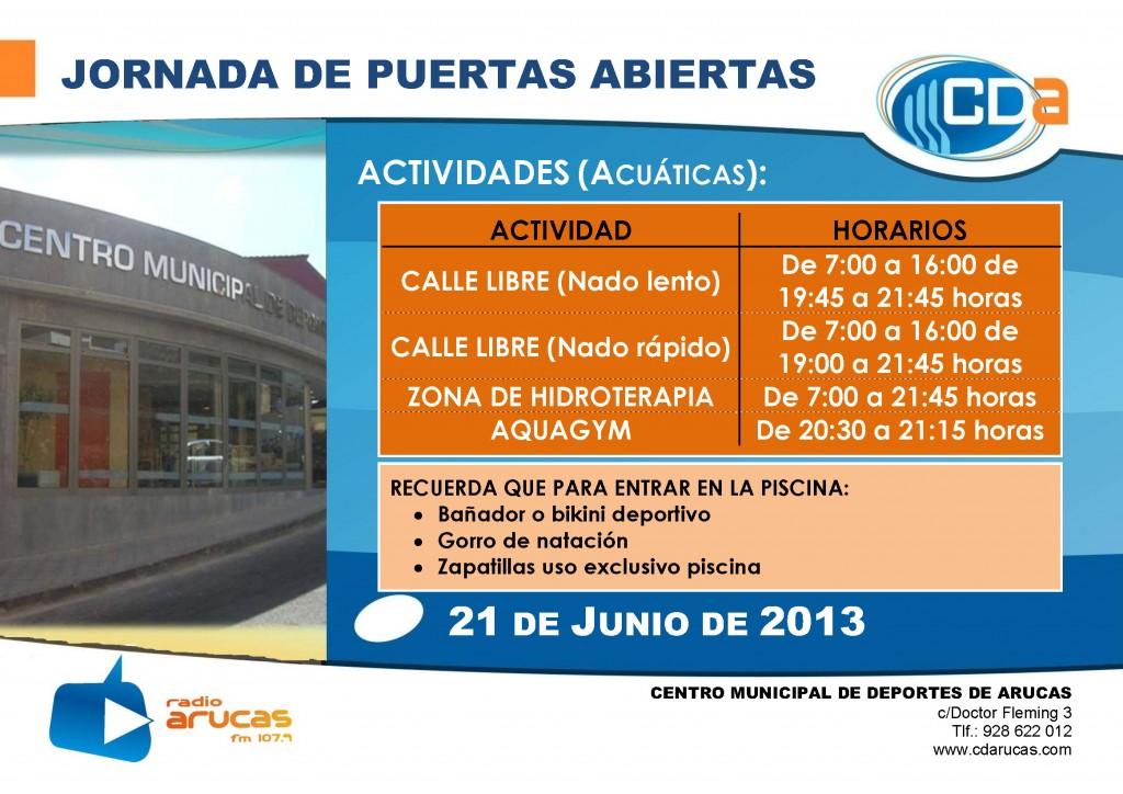 CARTEL Jornada de Puertas Abiertas II cda Junio 2013