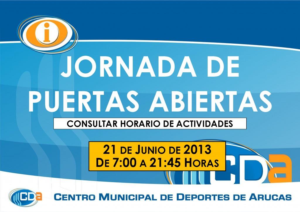 CARTEL Jornada de Puertas Abiertas cda Junio 2013