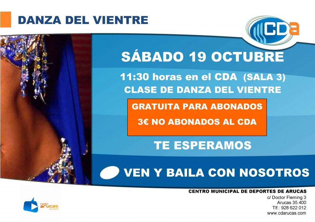 Cartel DANZA DEL VIENTRE  Oct'13
