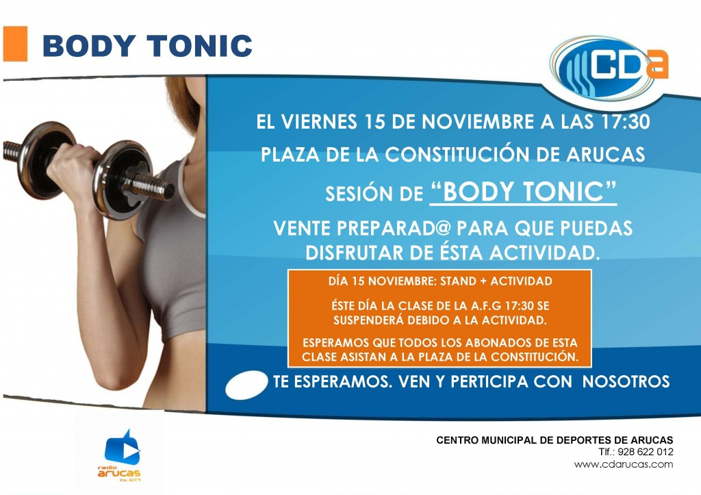 CARTEL Body Tonic+ Stand CDA 15 nov'13