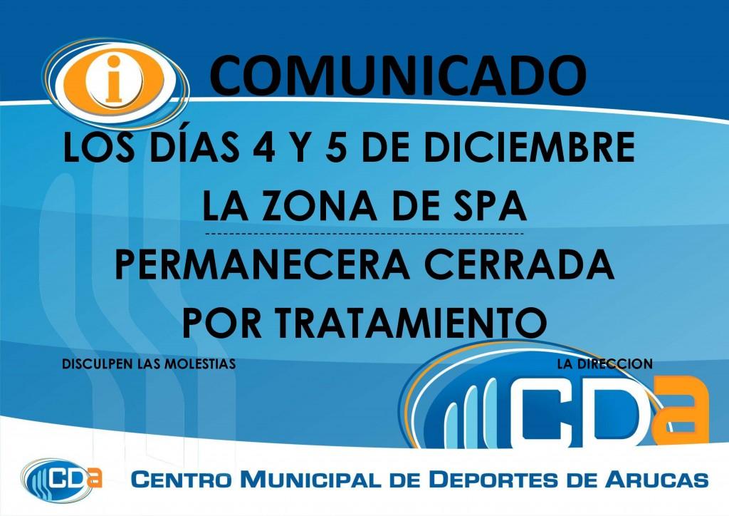 CARTEL LEGIONELA CIERRE SPA DIC. 2013