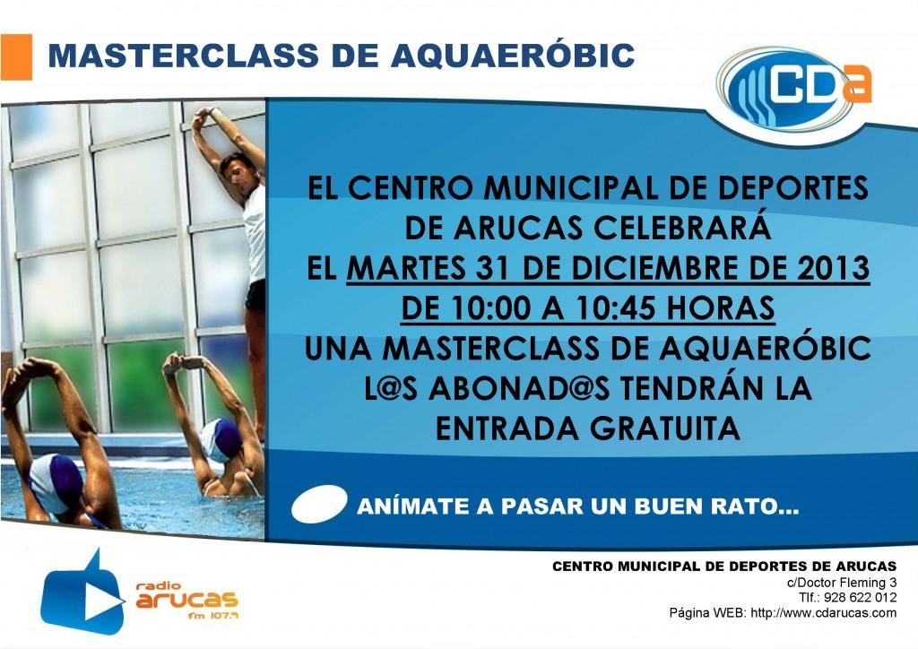 CARTEL Masterclass de Aquaerobic cda Diciembre 2013
