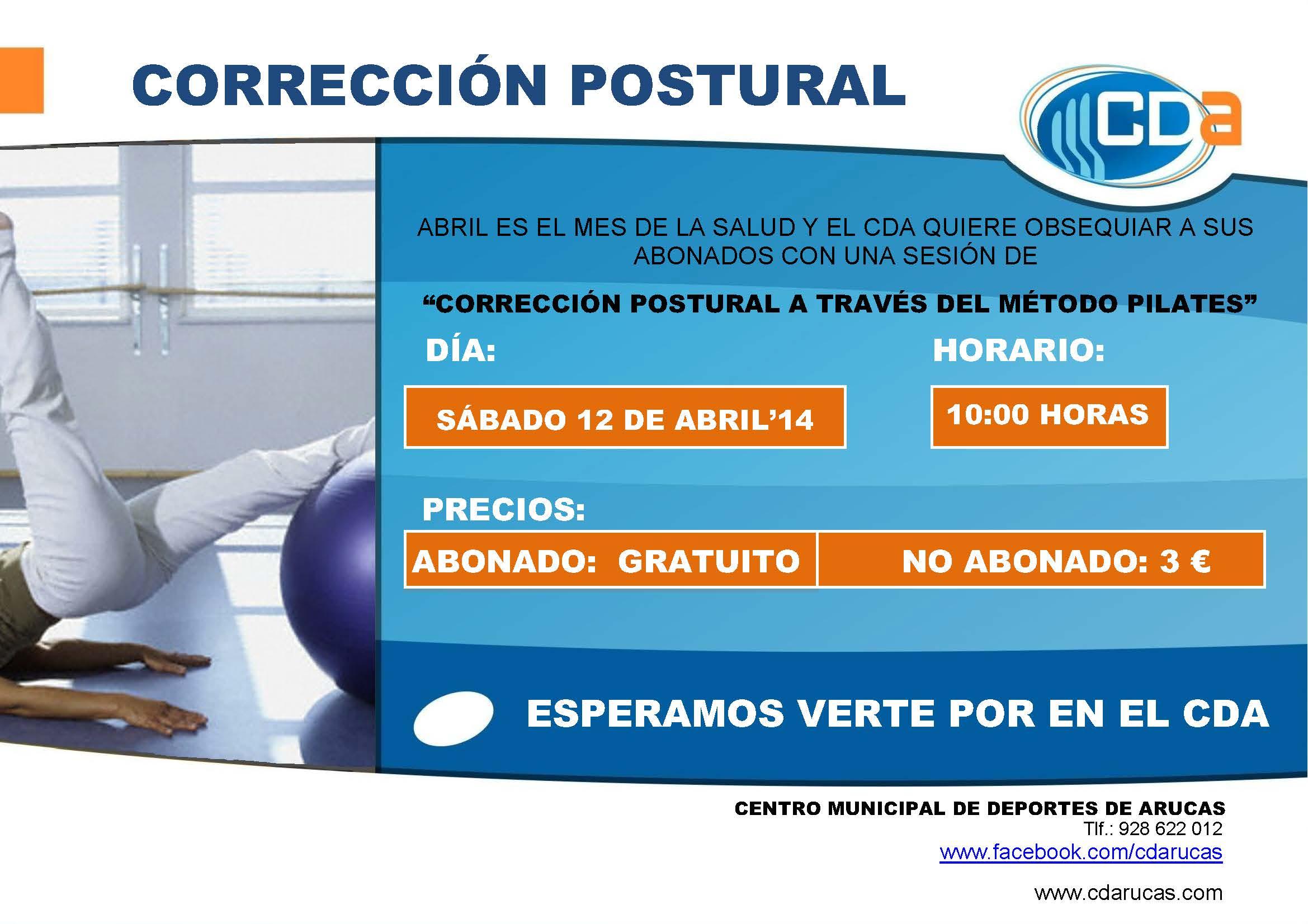 CARTEL CORRECCIÓN POSTURAL ABRIL'14