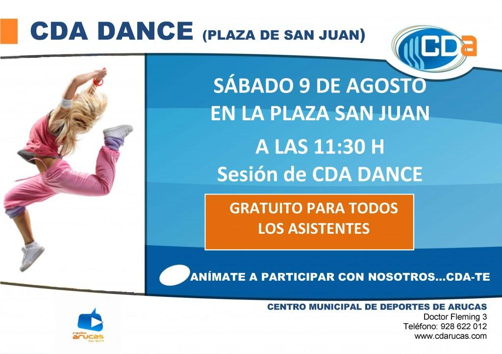 CARTEL CDA DANCE cda Agosto 2014