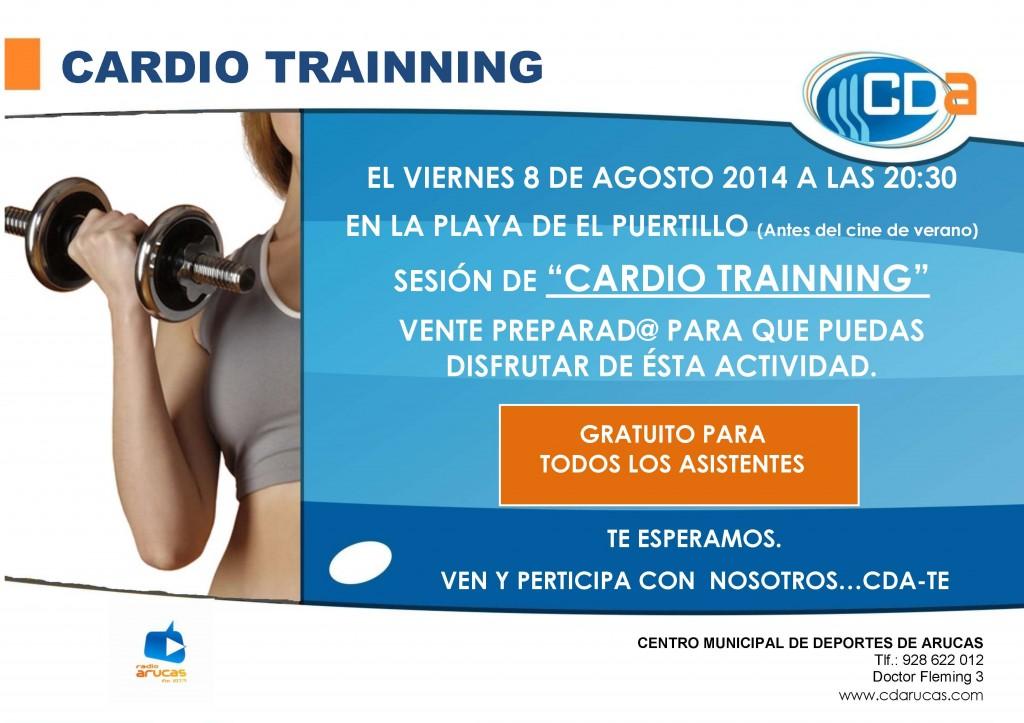 CARTEL Cardio Trainning El Puertillo CDA agosto'14
