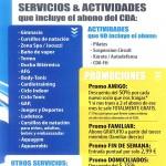 SERVICIOS & ACTIVIDADES QUE INCLUYE EL ABONO CDA