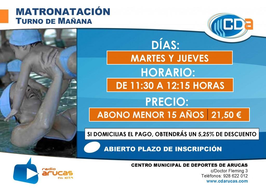 CARTEL Matronatacion mañanas cda Septiembre 2014