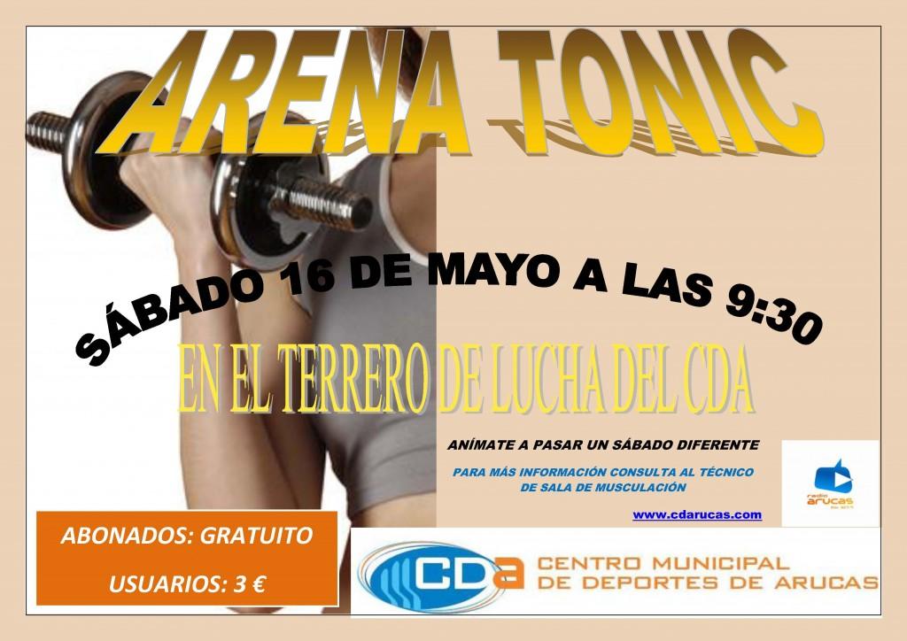 CARTEL ARENA TONIC  CDA Mayo'15