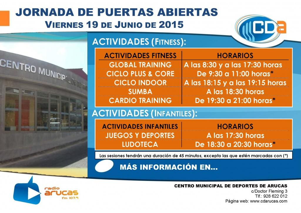 CARTEL Jornada de Puertas Abiertas I cda Junio 2015