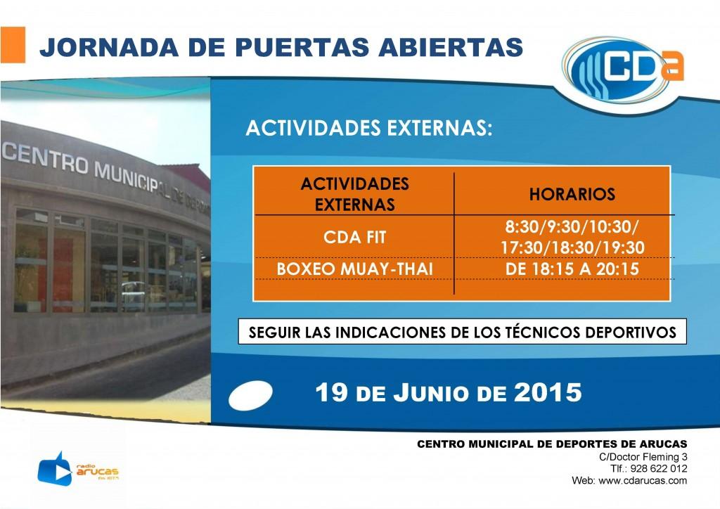 CARTEL Jornada de Puertas Abiertas  cda  Horario act externas 2015
