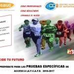 DECIDE TU FUTURO: Prepárate las pruebas físicas de acceso a la FCAFD con nosotr@s